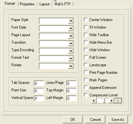 set format screenshot